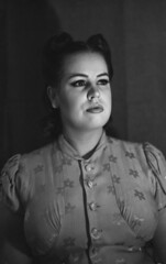 Old fashion portrait (Sonofsono) Tags: film fomapan black bw white graflex speedgraphic portrait people largeformat
