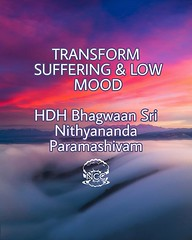 @nithyanandaswami - TRANSFORM SUFFERING & LOW MOOD Just today morning I was talking to one of the devotees who was in a low mood. I told him - see, when garbage is put on the face of the earth, it will smell, stink, create disease. But put it inside the e (sri.sadyojata) Tags: enlightenment consciousness awakening integrity responsibility enriching authenticity transformation yoga meditation