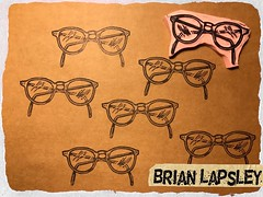 Four Eyes #rubberstamp #craft #make #handcarved #ink #brianlapsley (Brian Lapsley) Tags: artist art create learn share paper rubberstamp craft make handcarved ink brianlapsley