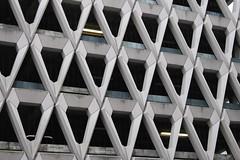Welbeck Street Car Park,14 (doojohn701) Tags: brutalist architecture concrete flourescent darkness 1970s postmodernist honeycomb london uk