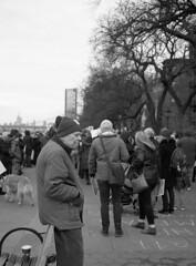 A Better BQE (triebensee) Tags: bronica rf645 zenzanon 65mm f4 kodaktrix400 kodakhc110 dilutionh epsonv700 film mediumformat 120 6x45 selfdeveloped bqe protest brooklyn heights promenade