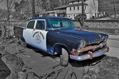 1956 Plymouth Plaza (George Neat) Tags: 1956 plymouth plaza police car highway patrol classic antique restore restoration sutersville westmoreland county pa pennsylvania georgeneat patriotportraits neatroadtrips outside rust