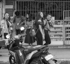 Hello (Beegee49) Tags: street filipina smiling waving happy planet sony a6000 blackandwhite monochrome bw silay city philippines asia happyplanet asiafavorites
