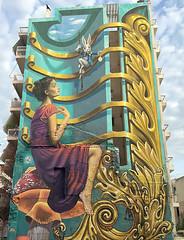 So impressive (Pensive glance) Tags: graffiti image painting wall mural mur streetart artderue