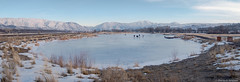 Fishing Pond in Winter - Idaho (petechar) Tags: charlesrpeterson petechar panasonicgx8 panasonic14140mm winter water ice snow edsonfichternaturearea pocatello idaho bannockcounty