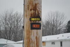"""""""2408"""" (Explored) (justinthedog) Tags: eriepa eastside downingavenue pole snow"""