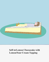 Cheesecake (wendylefkowich) Tags: cartoon illustration cheesecake dessert drawing portrait selfportrait