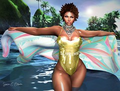 BLOG #259 (Suzie Coba Esquire) Tags: nikki suit beach wear foxcity bebe pose fashion style blog blogger virtual secondlife beauty model women clothing