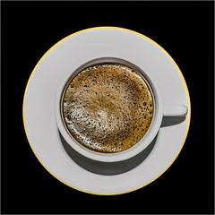 Mmmm Coffee (+Pattycake+) Tags: lumixdmcg1k morning brew coffee simplicity closeup porcelain cup saucer