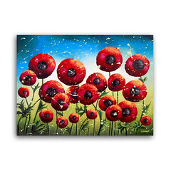 Red Poppy Original Pouring Painting on Canvas, Abstract Flower Wall Art, Floral Decor (hjmartgallery) Tags: flower flowerpainting flowerart flowergarden redpoppies redflower redflowers poppies poppyflowerredpoppypainting poppiesfield floralgarden floralpainting homedecor homedecorating acrylicpainting acryliconcanvas pouring pour originalpainting originalartwork originalart etsy helenjanowmiqueo hjmartgallery