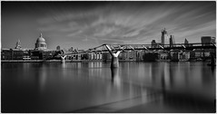 The Wibbly Wobbly Bridge (Andy J Newman) Tags: longexposure nikon monochrome millenium bridge silverefex photoshop london blackandwhite lightroom d810