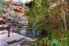 Debra Focusing _5709 (hkoons) Tags: moremigorge peacecorps southernafrica africa botswana debra palapye gorge hike hiking stream trail