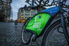 I love Düsseldorf (Sony_Fan) Tags: love düsseldorf germany sony alpha 6000 city evening blue hour bike rent winter street streetphotographie sonyfan sigma 19mm 28 art flickr thomas umbach schwelm photographer nextbike rheinkniebrücke stadtwerke
