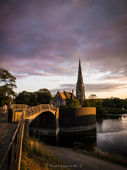Copenhagen (amipal) Tags: bridge church copenhagen denmark sunset water travel europe