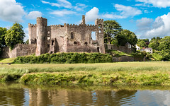 Laugharne Castle (Keith in Exeter) Tags: carmarthenshire castle laugharne wales fort water marsh sky landscape building architecture ruins tree tower