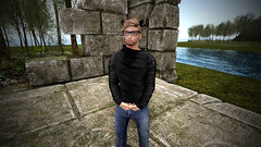 Nerdy Nonsense! (Absolutely CraiCrai) Tags: second life cardiff bay anicent ruins nerd nerdy glasses neko black dragon viewer