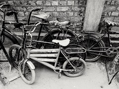 Bicycles in Black (Zohaib Usman (2M+ Thanks)) Tags: oldbicycles bicycles rentabicycle dirtybicycles bicyclethief rustybicycles blackwhite blackphotos blackandwhitephoto blackandwhitemaniacs blackandwhitephotography bw bwphotography blackandwhite zohaibusmanphotography
