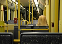 tram blonde (gerhardkörsgen) Tags: tram blonde linie 1 cologne köln 2012 yellow gelb atmosphere artphotography alltag candid city colour composition decisivemoment decent everyday single person feeling frau gerhardkoersgen germany grafic happenstance humour indoor innenaufnahme jeunesse körsgen life look lady menschen melancholy natural perspective photographed passenger sitting streetphotography scene surreal subway tunnel travel urban unknown ubahn view woman zufall