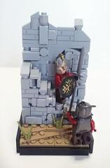 Battle of Helms Deep (LegoHobbitFan) Tags: lego moc creation build model castle medieval fantasy lotr lordoftherings hobbit middle earth battle helmsdeep orc rohan wall fortress vignette