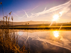 Morning Bath view misty (strangesimon) Tags: sunrise light morning rual explore trails planes reflections countryside landscape misty cold