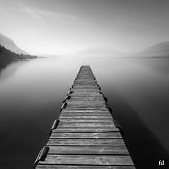 Au bout la lumière (flo73400) Tags: lac lacdannecy lake paysage landscape fog bw nb blackandwhite lebw longexposure poselongue
