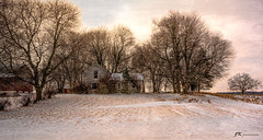 Winter Transition (James Korringa) Tags: winter scene farmhouse stanton michigan trees explore