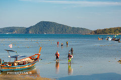 Yachts and boats at low tide, Rawai beach, Phuket island, Thailand (Phuketian.S) Tags: lowtide yacht boat sea ocean rawai beach phuket thailand people fisherman fishing water landscape nature яхта лодка таиланд отлив пляж прилив равай пхукет море океан phuketian