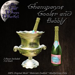 """Champagne Cooler and Bubbly"" by the Half Moon Market -  MadPea Premium Alliance Hunt: The Golden Pea Awards! (MadPea Productions) Tags: madpea productions madpeas alliance hunt collabs collaborators decor decoration prize prizes excitement fun intrigue"