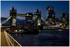 Tower Bridge London (babell4321) Tags: towerbridge bridge london nightshot city nightphotography beverleybell weekendaway longexposure canon river riverthames 2019 boats skyscrapers cranes recent explore gherkin skygarden nightsky bluehour londonbridges toweroflondon architecture outdoors