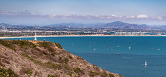 San Diego and Beyond (Ron Drew) Tags: nikon d850 california pointloma nationalmonument cabrillonationalmonument sandiego bay ocean pacificocean coronadoisland hoteldelcorando bridge beach shore clouds landscape doors usa vista boats