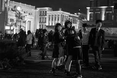 Frightened but liking it (Christophe-la) Tags: japan usj universal studio park japanese woman teen skirt miniskirt cosplay