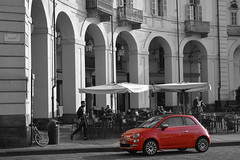 Red Fiat on Via Po (Thomas Roland) Tags: fiat 500 cinquecento red rød via po vej street gade europe travel efterår autumn herbst 2018 nikon d7000 europa city by torino turin tourists tourism tourist italy italia italien rejse