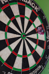 Bullseye (Someone's Name) Tags: bullseye darts precision focus determination razorback competition dart bar game bargame