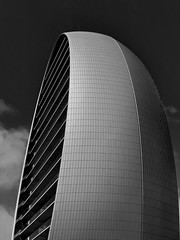 The Oval (heinzkren) Tags: schwarzweis blackandwhite bw sw monochrome building architektur architecture modern contemporary panasonic lumix limassol cy cyprus lines sky apartment office abstract structures tower gebäude skyscraper hochhaus