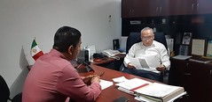 Trabaja nuestro coordinador Heliodoro_hcde con Víctor Raúl Hernández López, presidente de Santa María Jacatepec para llevar al municipio de la Cuenca del Papaloapan programas que lleven a reforzar los trabajos en materia d