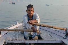 Varanasi, India (Ninara) Tags: hindu india varanasi holycity ganges ghat rower boatman boat row boatride water steps uttarpradesh kashi benares