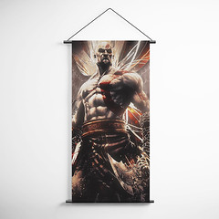 God Of War 38 Kratos Decorative Banner Flag for Gamers (gamewallart) Tags: background banner billboard blank business concept concrete design empty gallery marketing mock mockup poster template up wall vertical canvas white blue hanging clear display media sign commercial publicity board advertising space message wood texture textured material wallpaper abstract grunge pattern nobody panel structure surface textur print row ad interior