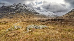 Highland Hike (Toff Photography) Tags: scotland scottishhighlands mountains sky clouds weather cold snow hiking dramatic winter freezing