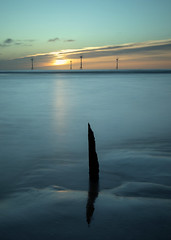 Sharp Sunrise (PeskyMesky) Tags: aberdeen scotland sunrise sunset landscape longexposure water sea ocean windfarm canon canon5d eos