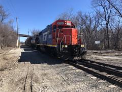CN at Rondout IL March 25 2019 (Tom J. Burke) Tags: rondout eje cn train railroad northshoreline nsl
