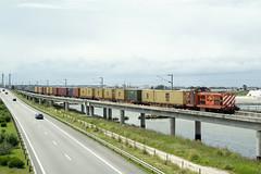 Medway 1412 | Aveiro (Fábio-Pires) Tags: portugal medway 1400 medway1400 1412 medway1412 aveiro englishelectric locomotiva locomotive diesel tracçãodiesel ramaldoportodeaveiro mercadorias freight msc contentores containers