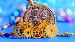 Old Clock - 6595 (ΨᗩSᗰIᘉᗴ HᗴᘉS +50 000 000 thx) Tags: clock bokeh color colorful macro old blue belgium europa aaa namuroise look photo friends be yasminehens interest eu fr party greatphotographers lanamuroise flickering
