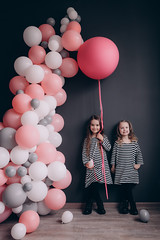 4 years old girls with air balloons. (nekrasovatatyana) Tags: happy beautiful girl celebration balloon holiday fun female cheerful party child birthday kid happiness childhood people 4years air colorful joy cute small playing little white 2person laughing beauty smiling adorable young lifestyle studio play style funny carefree black colourful fashion celebrating striped color life holding nature portrait event pink