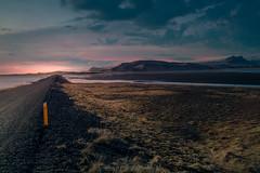 The Road Ahead (RigieNL) Tags: iceland nature landscape landscapelovers europe europa sony sky sun roadtrip insta instagram pink purple cloud dreamscape