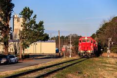 Rise and Shine (BravoDelta1999) Tags: carolina coastal clna railroad norfolk southern ns railway north emd gp9r 4630 gp9rm 4012 4628 manifest train 119 farmville