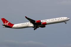 Virgin Atlantic | Airbus A340-600 | G-VNAP | London Heathrow (Dennis HKG) Tags: aircraft airplane airport plane planespotting canon 7d 100400 london heathrow egll lhr virginatlantic virgin vir vs airbus a340 a340600 airbusa340 airbusa340600 gvnap