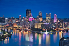 Pittsburgh & Blue Hour (Luís Henrique Boucault) Tags: allegheny america american architecture autumn bridge buildings business city cityscape confluence district downtown dusk evening fall financial landmark landscape monongahela night office ohio pa park pennsylvania pittsburg pittsburgh place point river rivers scene scenery scenic sky skyline skyscrapers states sunset three tourism town travel twilight united urban usa view water