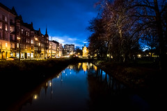 Blue hour (Maria Eklind) Tags: bluehour bridge street water spegling city dusk canal davidshallsbron bro malmö sweden sky twilight blue kanal reflection building södraförstadskanalen södertull streetsofmalmö skånelän sverige se