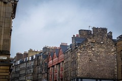 The Edinburgh Scotland skyline.