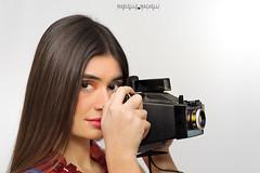Shooting (marcello.machelli) Tags: shooting polaroid sisxties 60ies 60 anni60 woman camera girl orange white bianco portrait ritratto ragazza donna nikon nikond810 style stile moda fashion